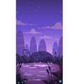 Cartoon vertical night landscape vector image vector image