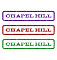 chapel hill watermark stamp vector image vector image