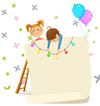 children party invitation contains transparency vector image vector image