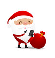 christmas character santa claus cartoon with vector image