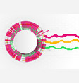 circle chart infographic template with 4 options vector image