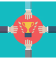 Concept of competition Struggle for leadership vector image