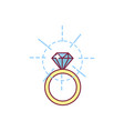 diamond bridal ring vector image