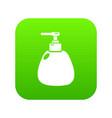 dispenser pump cosmetic icon green vector image vector image