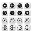 Drop down menu round buttons set vector image vector image