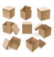 empty cardboard box open brown box mockup vector image vector image
