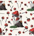 fantasy mushrooms vector image vector image