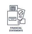 financial statements line icon concept financial vector image
