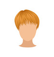 flat icon of female head with short red vector image vector image