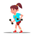 girl engaging in fitness sport healthy vector image vector image