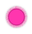 glamorous pink blank round 3d round frame vector image vector image