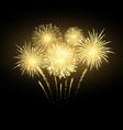 gold festival firework colorful carnival vector image