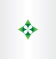green arrows up down left right logo icon vector image vector image