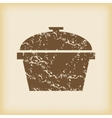 Grungy pan icon vector image