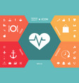 heart with ecg wave - cardiogram symbol medical vector image