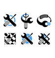 icon spanner repair set vector image