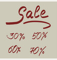 lettering sale discounts and interest vector image
