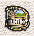 logo for hunting vector image