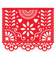 mexican paper decorations - papel picado vector image vector image