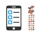 mobile test icon with love bonus vector image