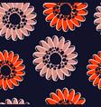 modern seamless autumn orange flower pattern vector image vector image