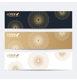Modern set of banners Molecule and vector image vector image