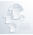 modern t-shirt background vector image