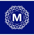 Monogram M vector image