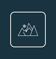 mountains icon line symbol premium quality vector image