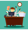 Multitasking Businessman Man at Work in Office vector image vector image