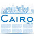 Outline Cairo Skyline with Blue Buildings vector image vector image