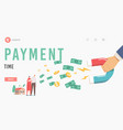 payment time landing page template collectors vector image