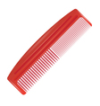 red comb vector image vector image