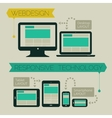 Responsive webdesign technology page design vector image vector image