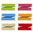Ribbons set for text differents colors vector image