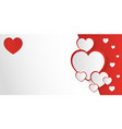 san valentine day invitation card or background vector image vector image