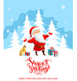 santa claus holiday cartoons vector image