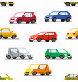 seamless pattern with color cars vector image