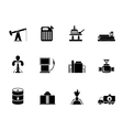 Silhouette Oil and petrol industry icons vector image vector image