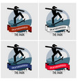 skateboarder club logo design artwork for vector image vector image