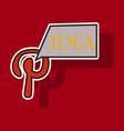 sticker unusual look icon of pinterest on vector image vector image
