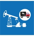 tank truck oil pumping graphic vector image