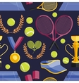 Tennis set pattern vector image