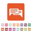 The chat icon Internet and forum blog online vector image vector image