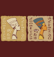 tiles with egyptian queen nefertiti and vector image vector image