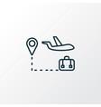 travel tour icon line symbol premium quality vector image