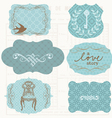 vintage design elements for scrapbook - old tags a vector image vector image