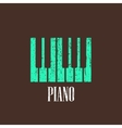 vintage with piano vector image vector image
