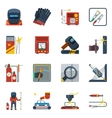 Welding Flat Color Icons vector image