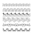 collection floral seamless border vector image